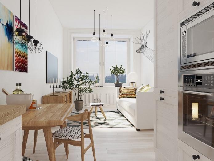 скндинавски стил на малки помещения