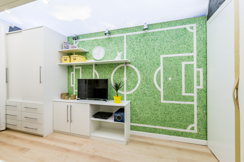 Детская стая зелено течен тапет SILK PLASTER